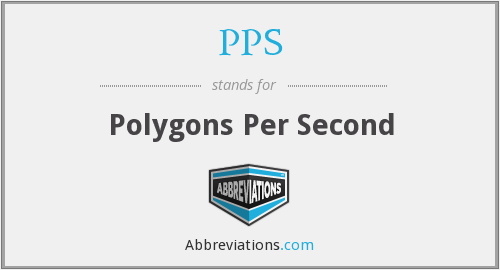 PPS - Polygons Per Second