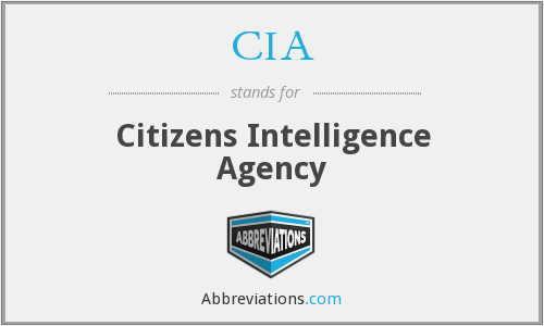 CIA - Citizens Intelligence Agency