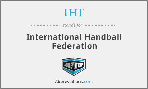 IHF - International Handball Federation