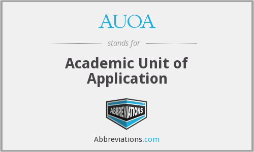 What does AUOA stand for?