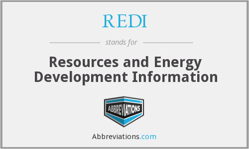 REDI - Resources and Energy Development Information