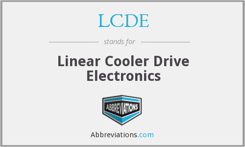 LCDE - Linear Cooler Drive Electronics
