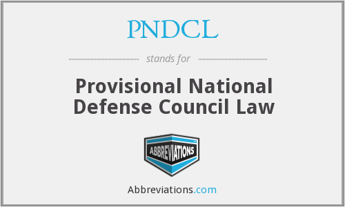 What does PNDCL stand for?