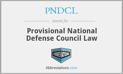 PNDCL - Provisional National Defense Council Law