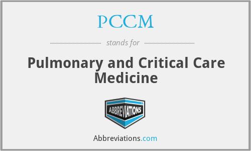 PCCM - Pulmonary and Critical Care Medicine