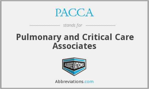 PACCA - Pulmonary and Critical Care Associates