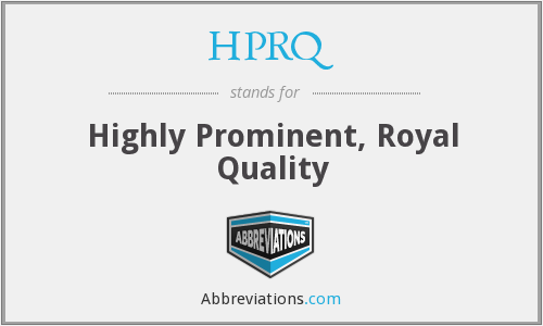 What does HPRQ stand for?