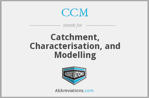 CCM - Catchment, Characterisation, and Modelling