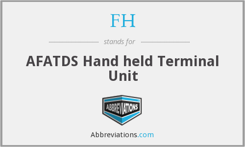 FH - AFATDS Hand held Terminal Unit