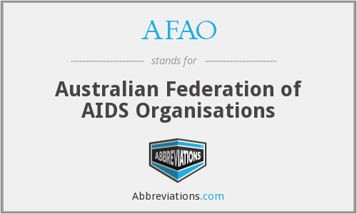 What does AFAO stand for?