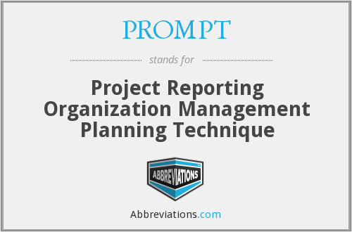 PROMPT - Project Reporting Organization Management Planning Technique