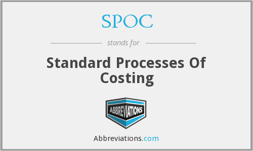 SPOC - Standard Processes Of Costing