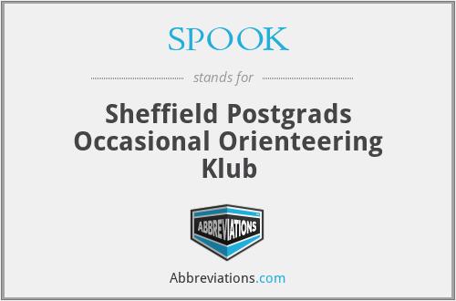 SPOOK - Sheffield Postgrads Occasional Orienteering Klub