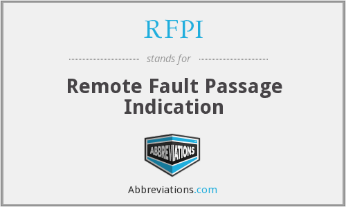 RFPI - Remote Fault Passage Indication