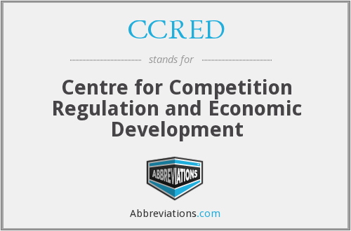 What does CCRED stand for?