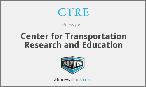 CTRE - Center for Transportation Research and Education