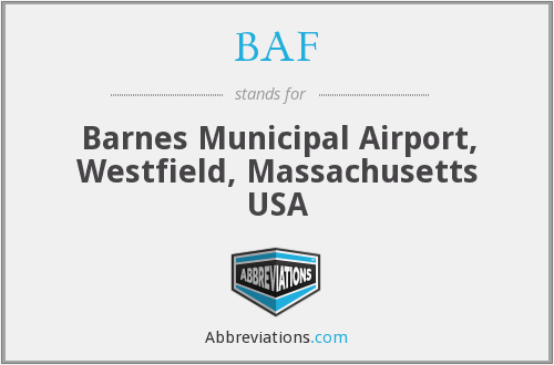 BAF - Barnes Municipal Airport, Westfield, Massachusetts USA