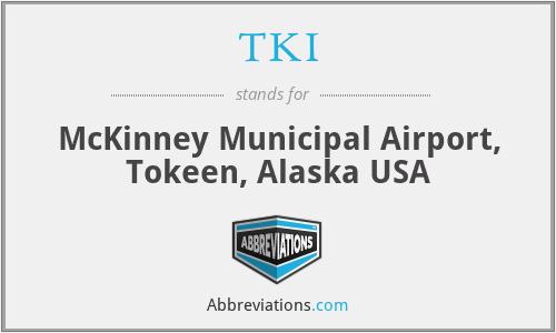 TKI - McKinney Municipal Airport, Tokeen, Alaska USA
