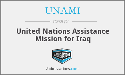 What does UNAMI stand for?