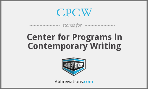 CPCW - Center for Programs in Contemporary Writing