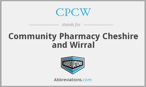 CPCW - Community Pharmacy Cheshire and Wirral