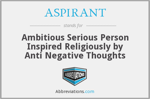 What does ASPIRANT stand for?