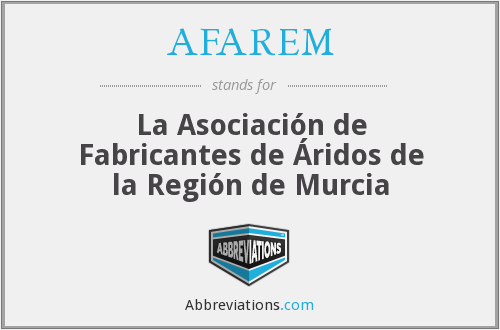 What does AFAREM stand for?