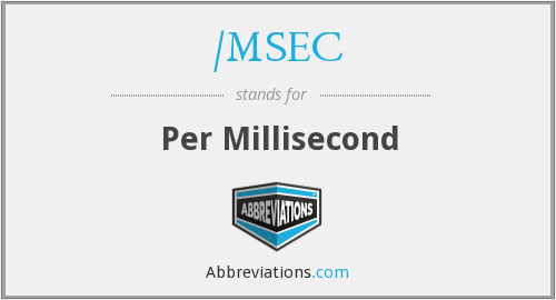 What does /MSEC stand for?
