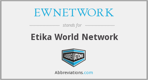 What does EWNETWORK stand for?