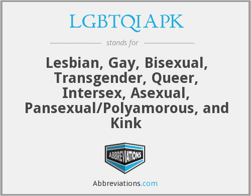What does LGBTQIAPK stand for?