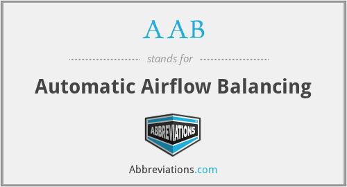 AAB - Automatic Airflow Balancing