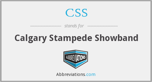 CSS - Calgary Stampede Showband