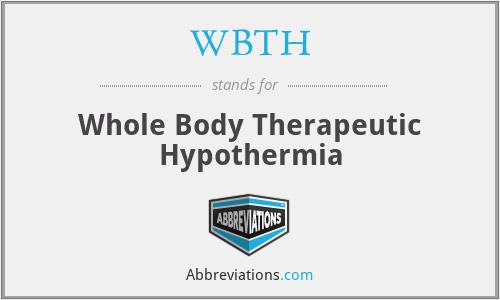 WBTH - Whole Body Therapeutic Hypothermia