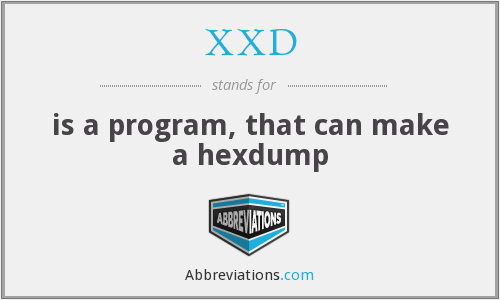 What does XXD stand for?