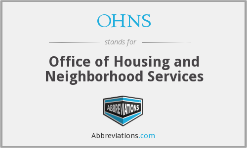 OHNS - Office of Housing and Neighborhood Services