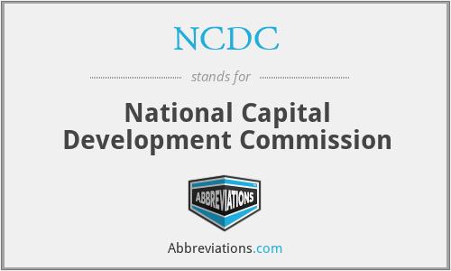 NCDC - National Capital Development Commission
