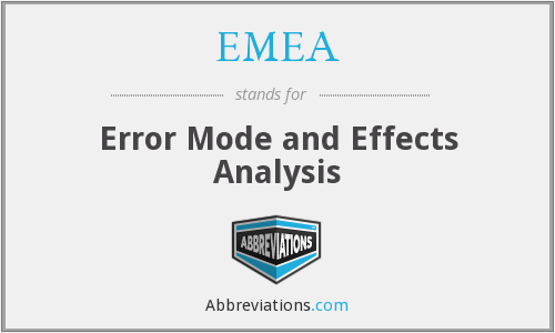EMEA - Error Mode and Effects Analysis