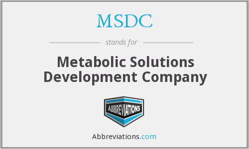 What does MSDC stand for?