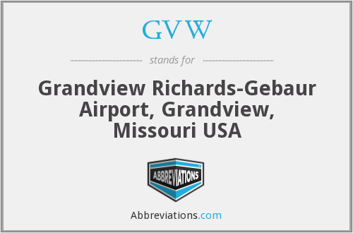 GVW - Grandview Richards-Gebaur Airport, Grandview, Missouri USA