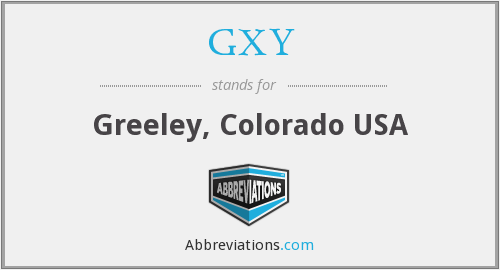 GXY - Greeley, Colorado USA