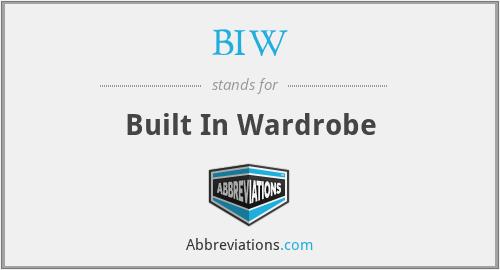 BIW - Built In Wardrobe