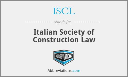 ISCL - Italian Society of Construction Law
