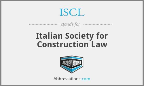 ISCL - Italian Society for Construction Law