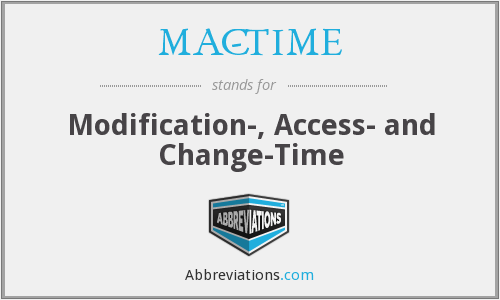 What does MAC-TIME stand for?