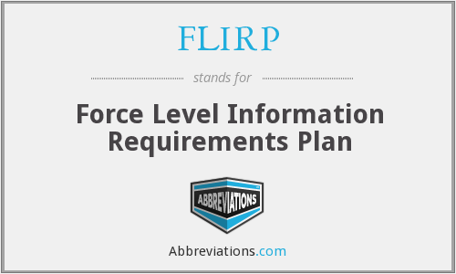 FLIRP - Force Level Information Requirements Plan