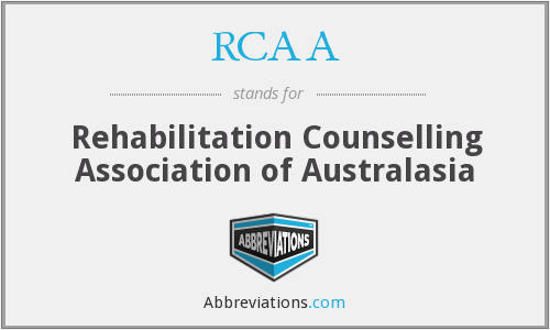 RCAA - Rehabilitation Counselling Association of Australasia