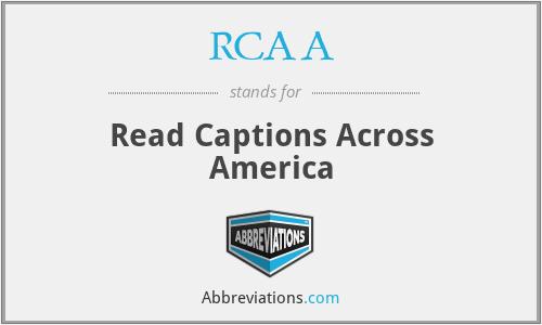 RCAA - Read Captions Across America