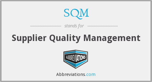 SQM - Supplier Quality Management