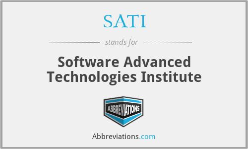 SATI - Software Advanced Technologies Institute