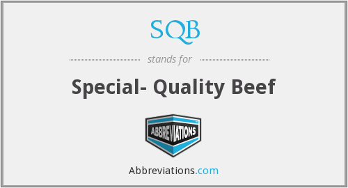 SQB - Special- Quality Beef